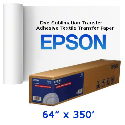 Epson 64x350 Adhesive Textile Transfer Paper Roll
