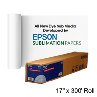 17x300ft Roll Epson Dye Sub Transfer Photo Paper