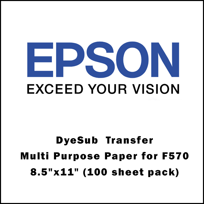 Epson® DS Transfer Multi Purpose Paper for F170/F570 - 8.5x 11 (100 sheet pack)