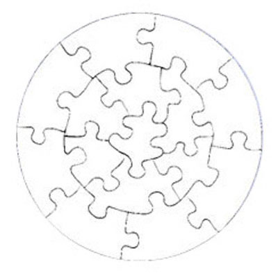7.25 Round15 Piece Gloss Puzzles 10 Pack