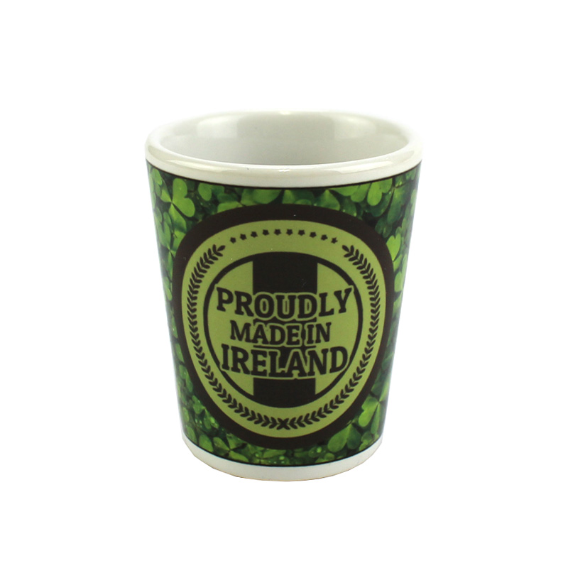 2oz Sublimation Coated Shot Glass CeramicWhite