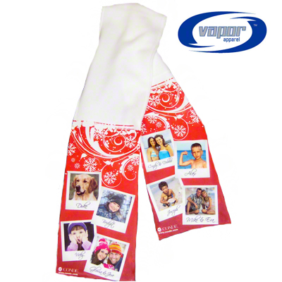 8in x 60in Vapor® Fleece Sublimation Ready Scarf