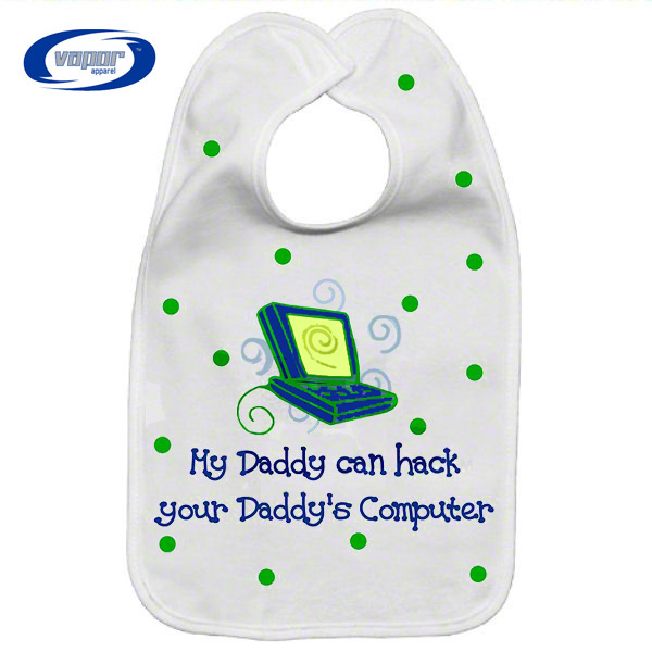 Vapor Sublimation Blank Fleece Baby Bib - 8.75