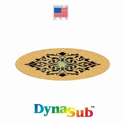 Dynasub Small Barrette Cover 1x3 Glitter Gold