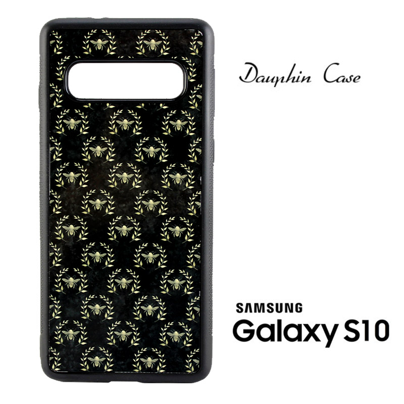Samsung® S10 Dauphin™ Sublimation Rubber Case - Black w/ White Aluminum Insert