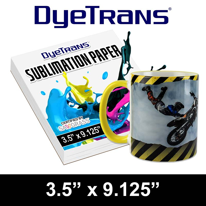 DyeTrans Multi-Purpose Sublimation Transfer Paper - 100 Sheets - 3.5 x 9.125