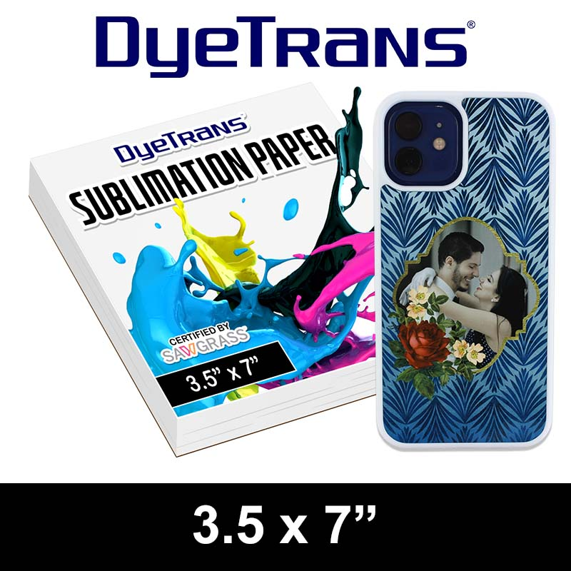 DyeTrans Multi-Purpose Sublimation Transfer Paper - 100 Sheets - 3.5 x 7