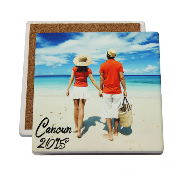 IronClad Sublimation Blank Sandstone Coaster - 3.94 - Square
