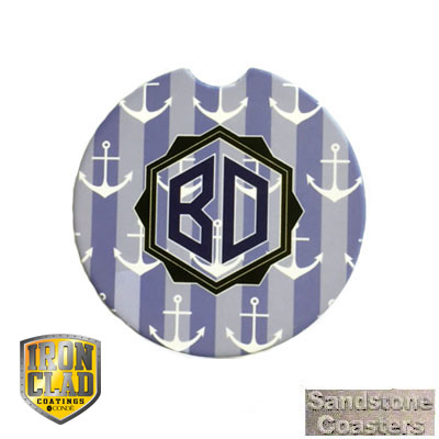 IronClad Sublimation Blank Sandstone Car Coaster - 2.56