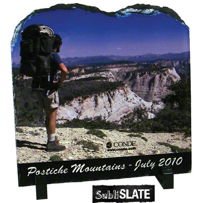 SubliSlate Blank Sublimation Slate Plaque - 7.8