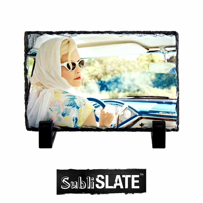 SubliSlate™ Blank Sublimation Slate Plaque - 3.94