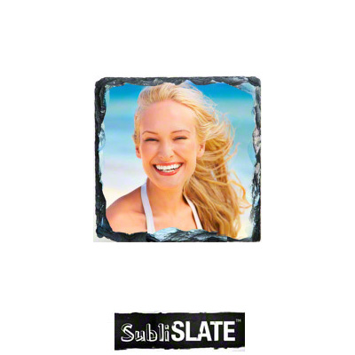 SubliSlate Sublimation Blank Slate Coaster - 3.5 - Square
