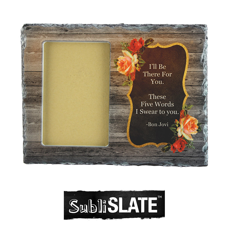 SubliSlate™ Blank Sublimation Sate Rectangle with Cut Out Frame - 7.5