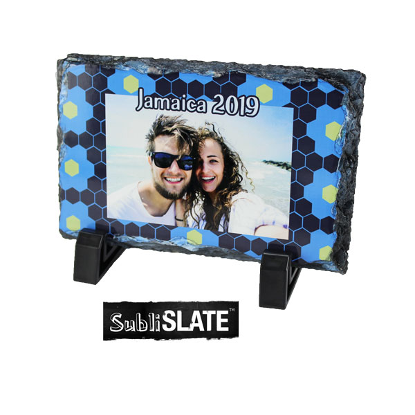 SubliSlate™ Blank Sublimation Slate Glossy Plaque - 3.93