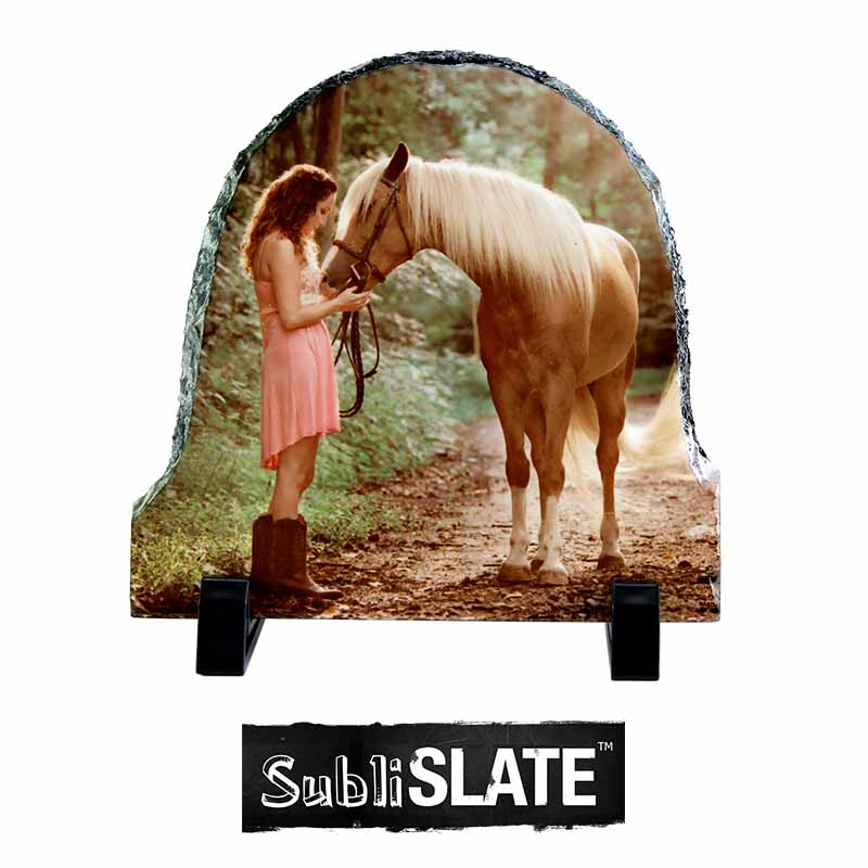 SubliSlate™ Blank Sublimation Slate Plaque - 5.85