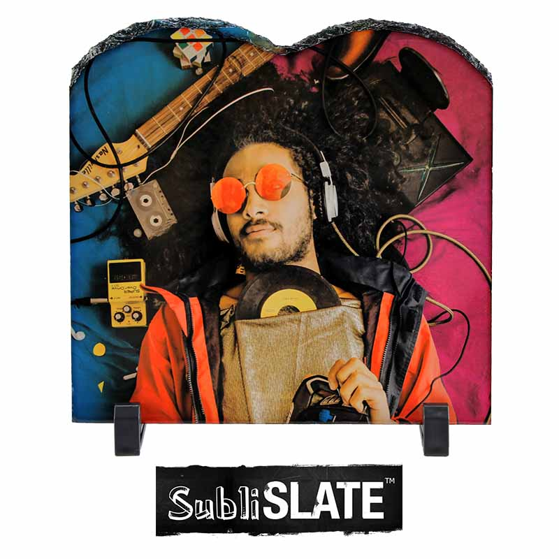 SubliSlate™ Blank Sublimation Slate Plaque - 7.8x7.8 - Tablet