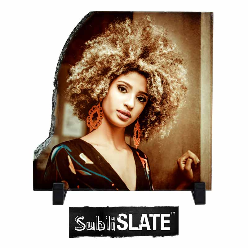 SubliSlate™ Blank Sublimation Gloss Plaque - 7.8