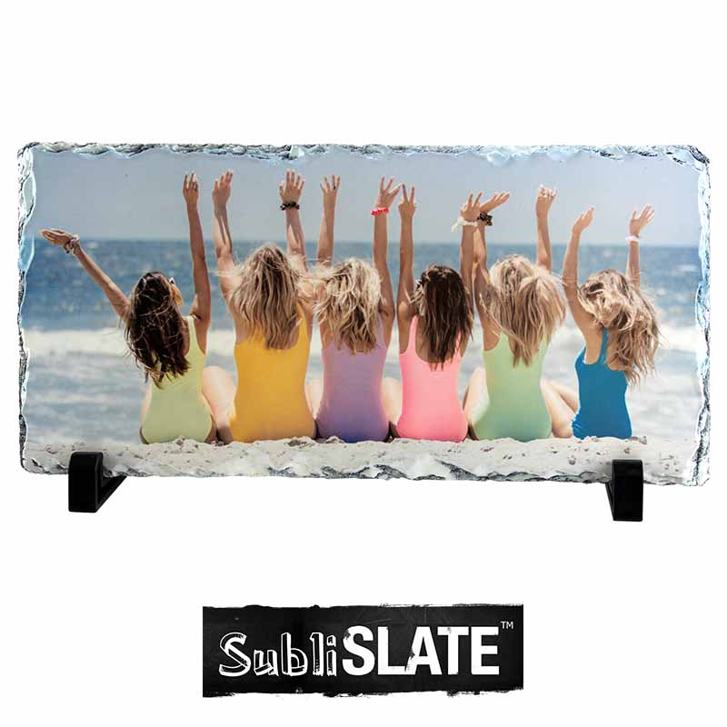 SubliSlate™ Blank Sublimation Slate Plaque - 6.3