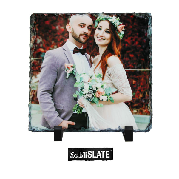 SubliSlate™ Blank Sublimation Slate Plaque - 7.8