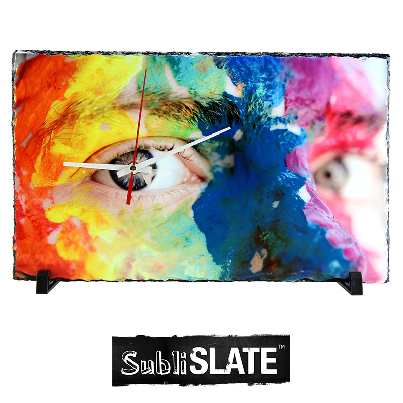 SubliSlate™ Blank Sublimation Rectangle Clock  - 9.85