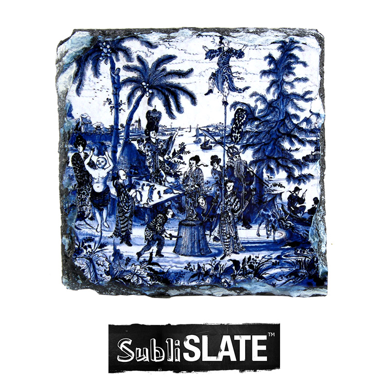 SubliSlate™ Blank Sublimation Slate Coaster - 3.9