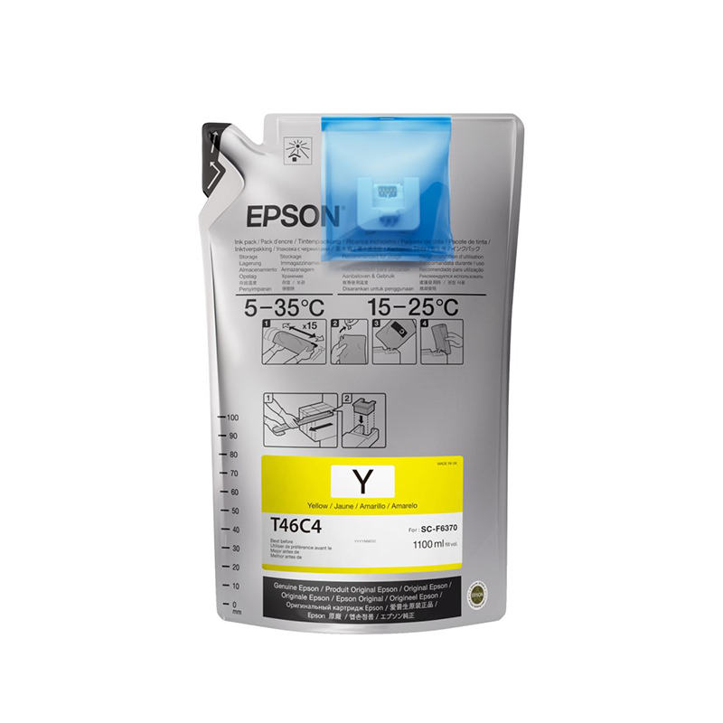 Epson® UltraChrome DS Ink for F6370 Printers - Yellow - 1.1 Liters