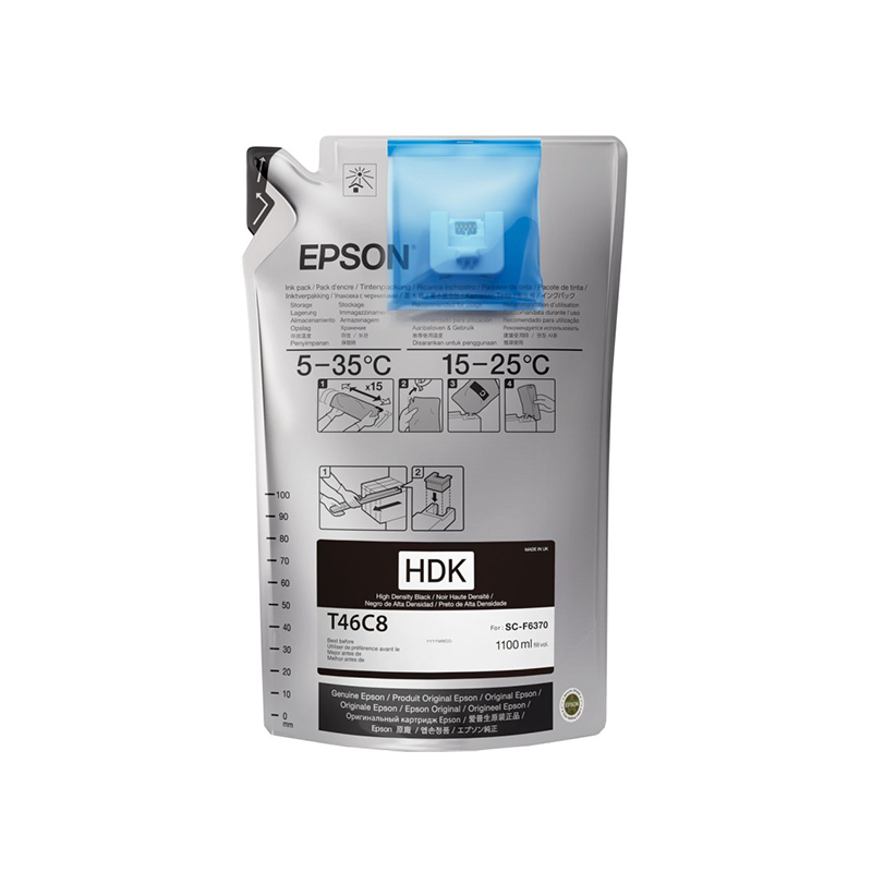 Epson® UltraChrome DS Ink for F6370 Printers - Black - 1.1 Liters