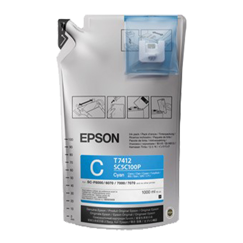Cyan - Epson UltraChrome™ Dye Sublimation Ink for F6070 or F7070