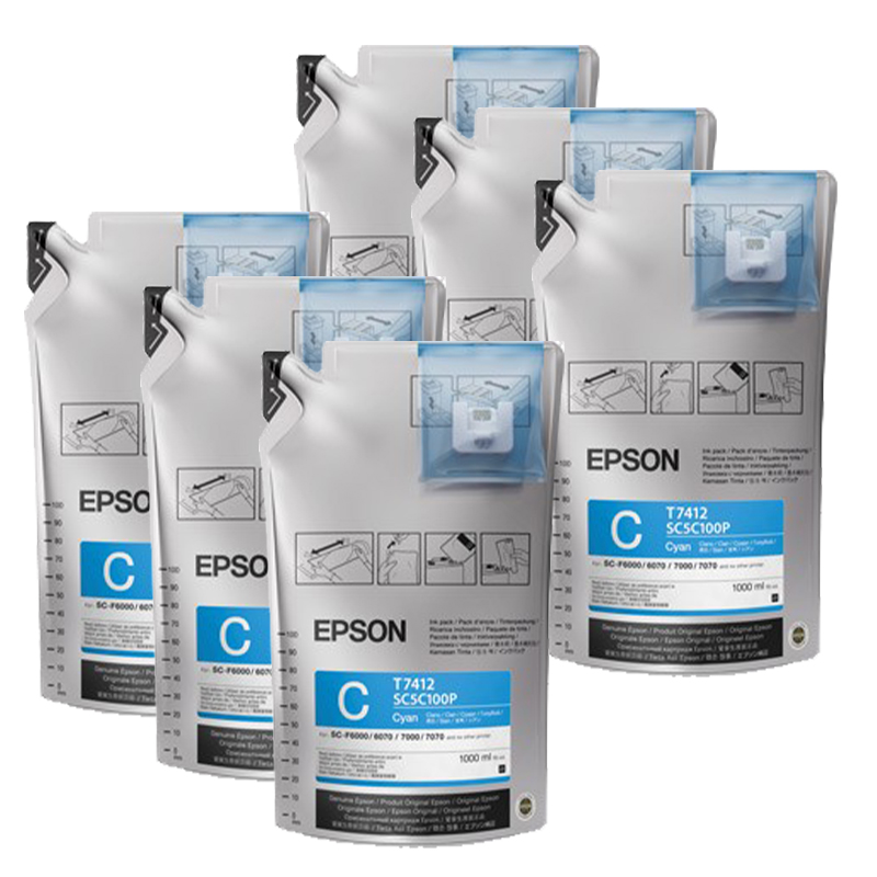 Cyan- Epson UltraChrome™ Dye Sublimation Ink for F6070 or F7070