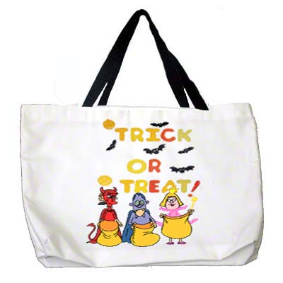 DyeTrans Large White Tote - Black Strap