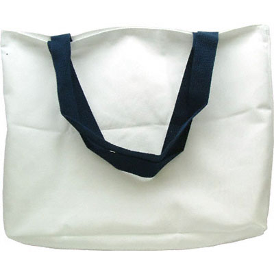 DyeTras Large White Tote - Blue Strap