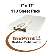 TexPrint™ DT Heavy Sublimation Transfer Paper - 110 Sheets - 11