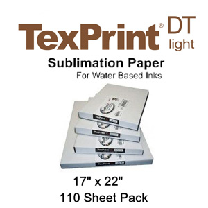 TexPrint XP HR Sublimation Transfer Paper - 110 Sheets - 17 X 22