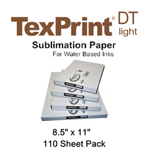 TexPrint XP HR Sublimation Transfer Paper - 110 Sheets - 8.5 X 11