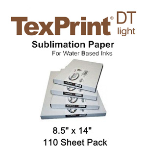 TexPrint XP HR Sublimation Transfer Paper - 110 Sheets - 8.5 X 14
