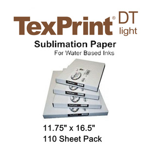 TexPrint XP HR Sublimation Transfer Paper - 110 Sheets - 11.75 x 16.5