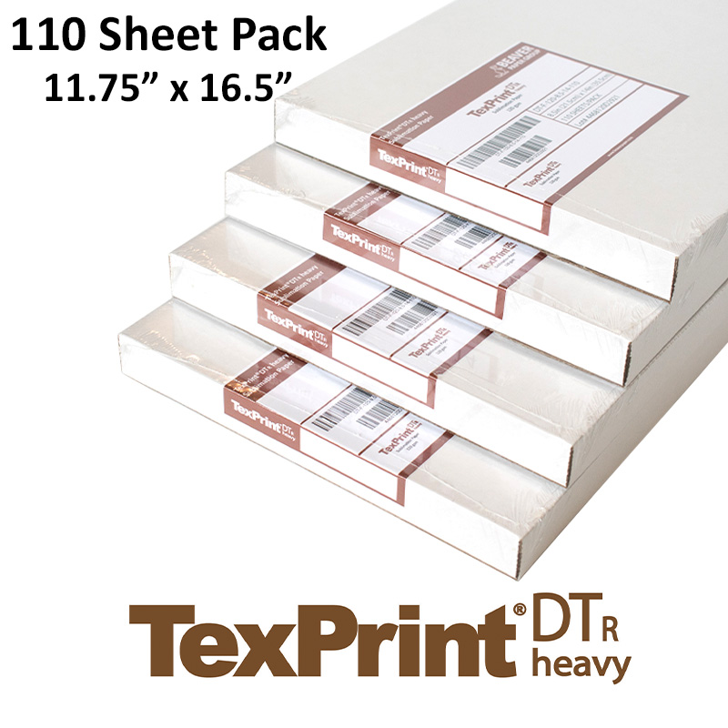 TexPrint DT Heavy Sublimation Transfer Paper - 110 Sheets - 11.75