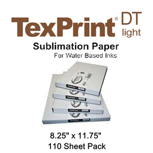 TexPrint XP HR Sublimation Transfer Paper - 110 Sheets - 8.25 x 11.75