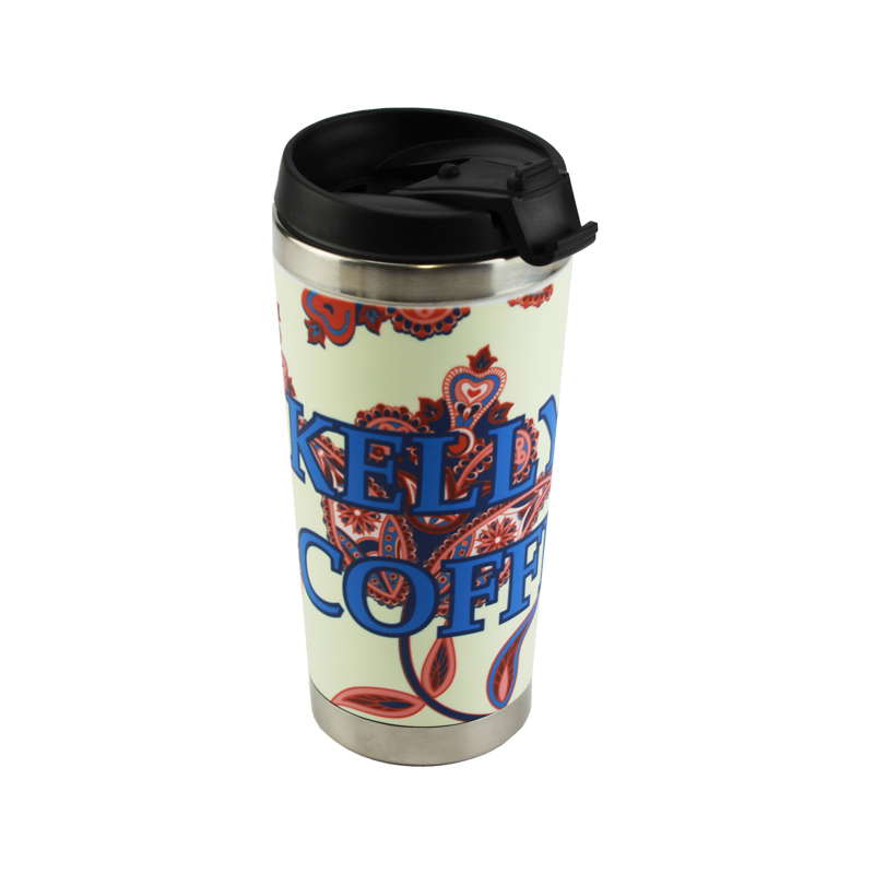 15oz Stainless Steel Polymer Hull Travel Mug