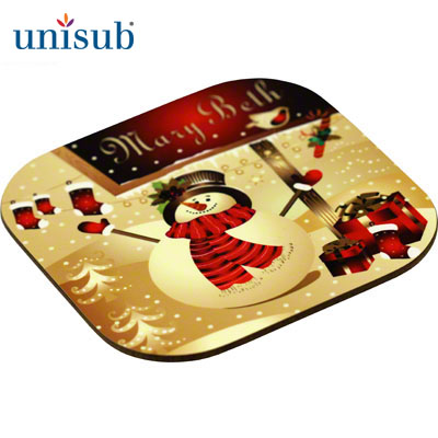 Unisub Sublimation Blank Hardboard Coaster - 4 - Square