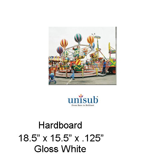 Unisub Sublimation Blank Hardboard Sheet Stock - 15.5
