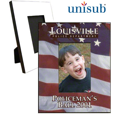 8x10 Unisub MDF Photo Frame w/Easel - White Gloss