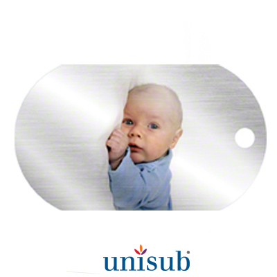 1.15x2 Unisub 1-Sided ID Dogtag - Clear Gloss