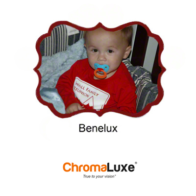 Benelux Small Gloss White ChromaLuxe Aluminum