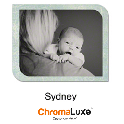 Sydney Medium Gloss White ChromaLuxe Aluminum