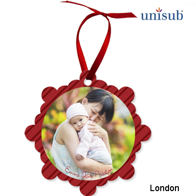Unisub Sublimation Blank Aluminum Ornament - 3