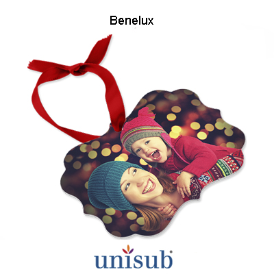 Unisub® Sublimation Blank Aluminum Ornament - 2.76
