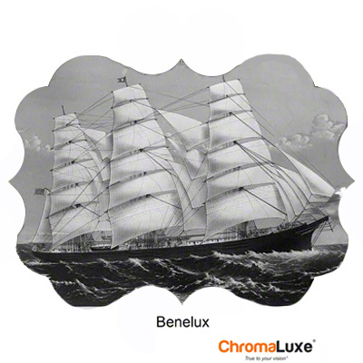 Benelux Gloss Clear 22x15 ChromaLuxe Aluminum