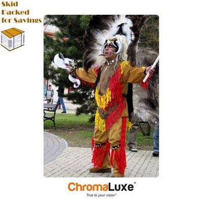 ChromaLuxe Sublimation Blank MDF Photo Panel - 20 x 30 - Chamfer Edge - Gloss White