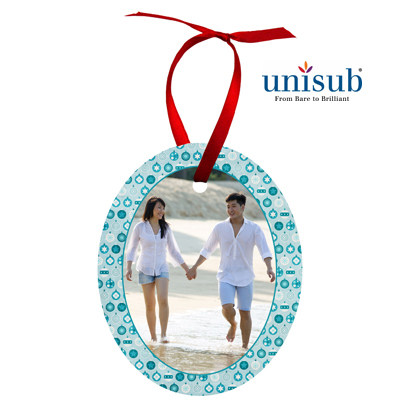 Unisub Sublimation Blank Aluminum Ornament - 2.375